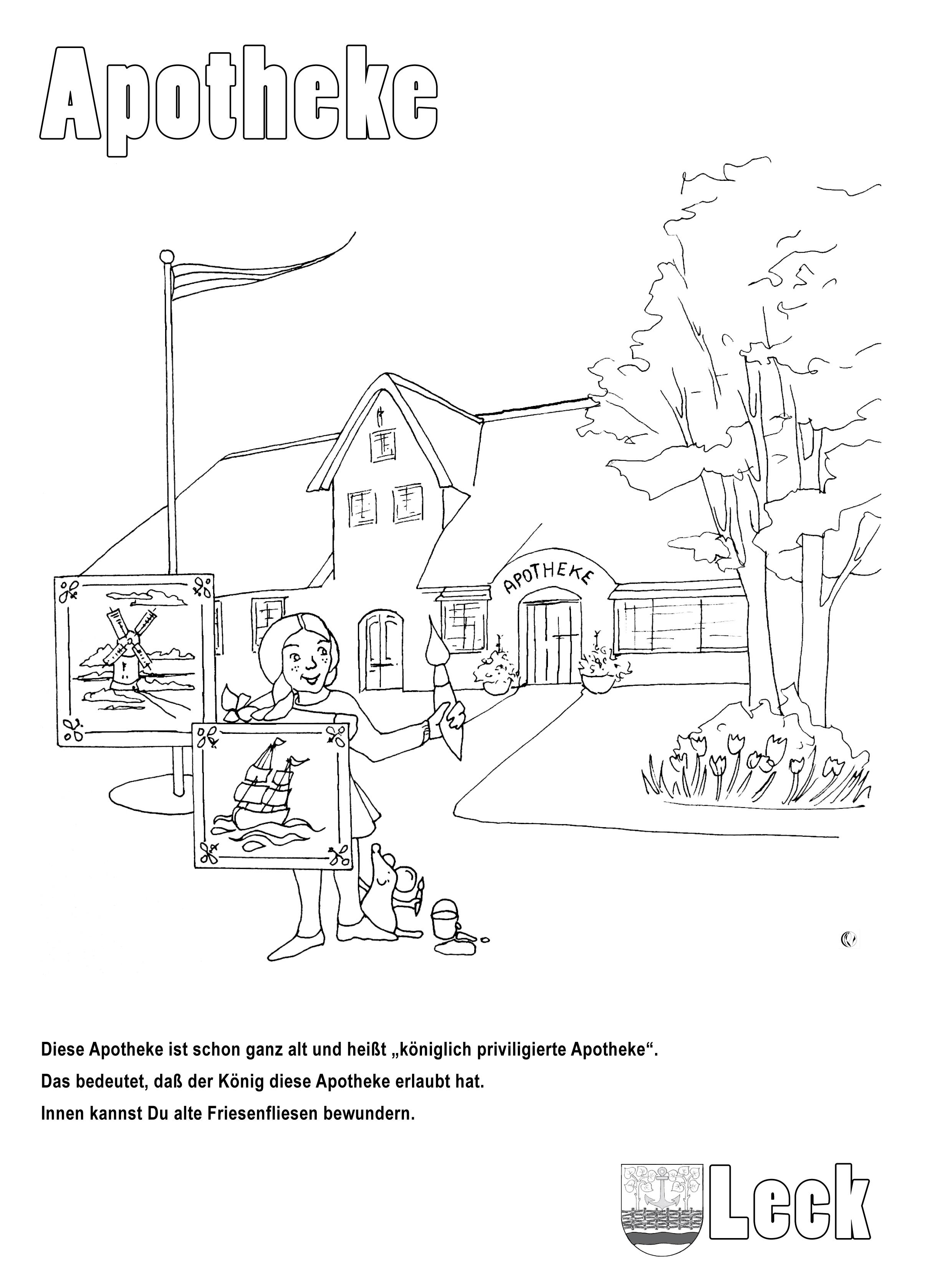 Charmant Ausmalbilder Apotheke Ideen - Framing Malvorlagen ...