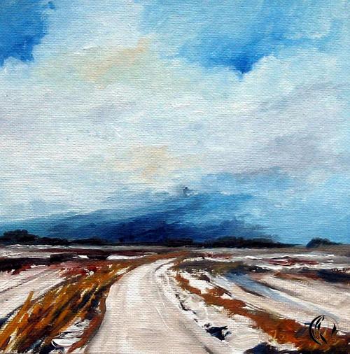 Schnee in Klixbüll – Ölmalerei