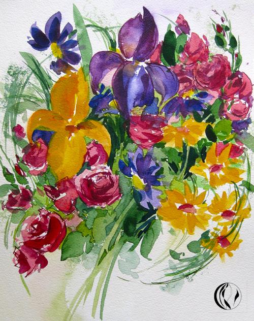 Blumenstrauß – Aquarellmalerei