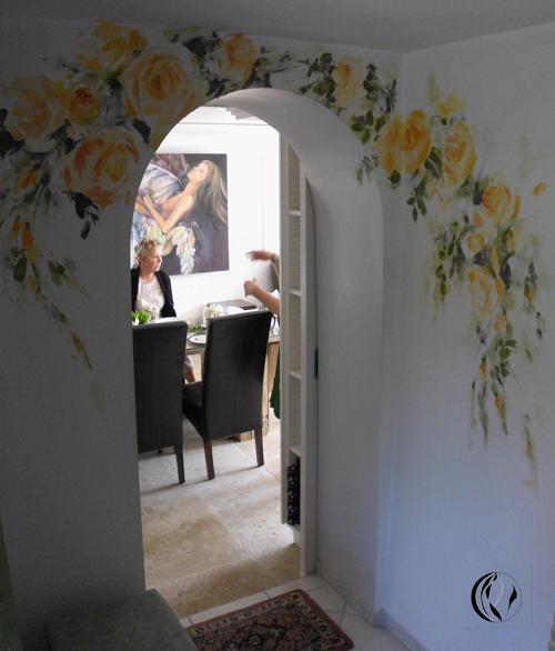 Interieurmalerei  Wandmalerei an Türen – Interieurmalerei – Malen am Meer®