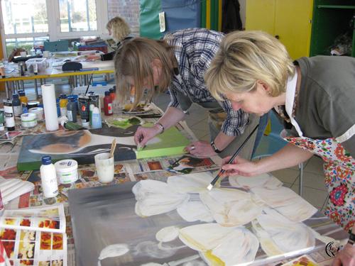 """Acrylmalerei Vorlagen Anfanger Kostenlos : Hier finde ich endlich Ruhe zum Malen"""" Immer wieder gerne dabei"""