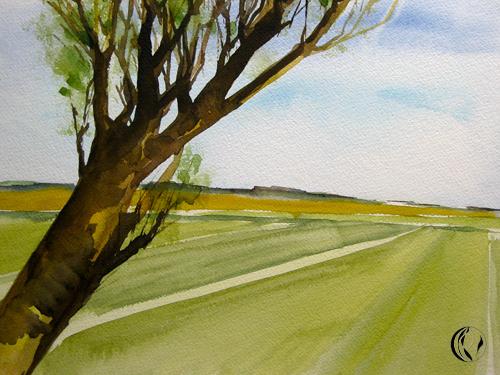 Landschaftsmalerei – für Anfänger – Aquarellmalerei
