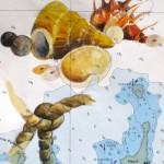 Seekarte 01 – Aquarellmalerei