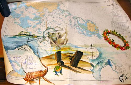 Seekarte 04 – Aquarellmalerei