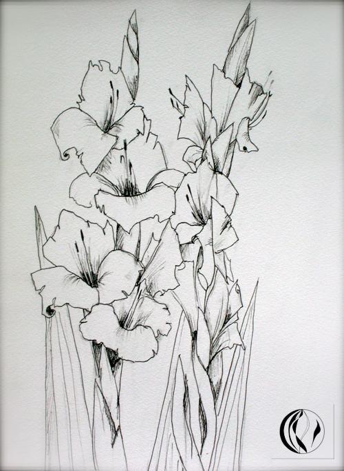 Blumen malen – Zeichnungen