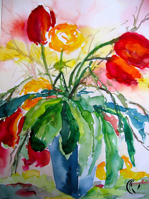 Tulpen – Aquarellmalerei