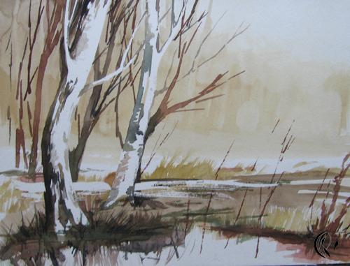 Bäume – Aquarellmalerei