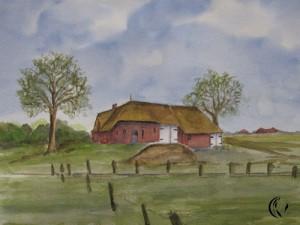 malen_am_meer_schuelerbild_reetdachhaus