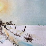 malen_am_meer_schnee_nordfriesland_aquarellmalerei