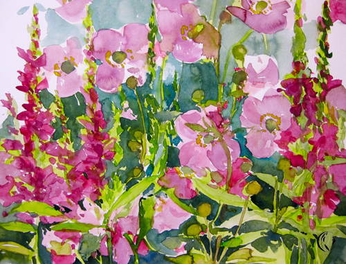 malen_am_meer_japanische_anemone_aquarell