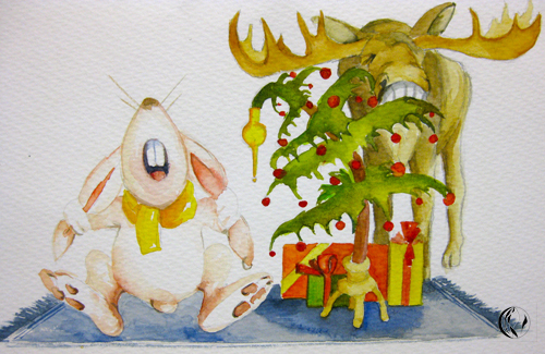 Adventszeit beginnt – Illustration