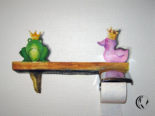 Badezimmergestaltung – mal ganz anders – Oelmalerei / Acrylmalerei