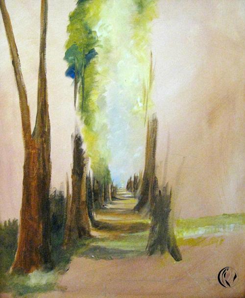 Allee – Oelmalerei