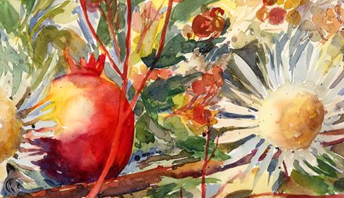 malen_am_meer_diestel_klein_silberdistel - granatapfel