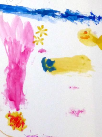 Auquarellmalerei mal anders - Qualle aus der Sicht eines Kindes