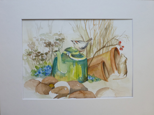 Goldhähnchen – Aquarell