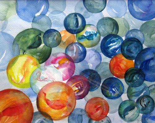 Murmeln – Aquarellmalerei
