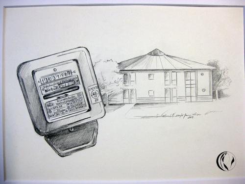 Abschied – Rente – Andenken – Zeichnung