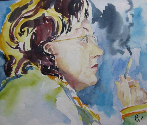 malen_am_meer_krankenschwester_portrait_aquarell