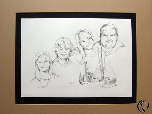 Familienportrait – Zeichnung