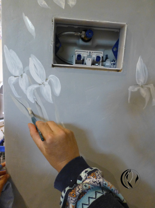 Badgestaltung – Acrylmalerei