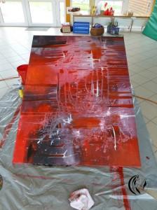malen_am_meer_privatunterricht_abstraktmalen_acryl_rot_grau_bei_sylt