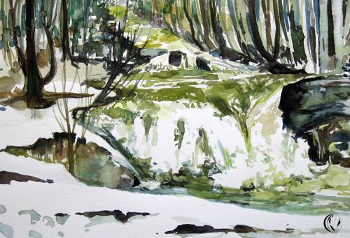 malen_am_meer_bachlauf_norwegen_aquarell_landschaft