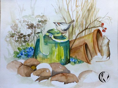 malen_am_meer_weihnachtsmaenner_aquarell_aquarellmalerei_nordfriesland_maus