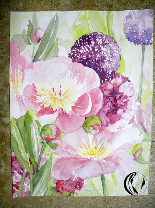 Am Er Rose >> Blumen erfrischen die Seele – Aquarell – Malen am Meer®
