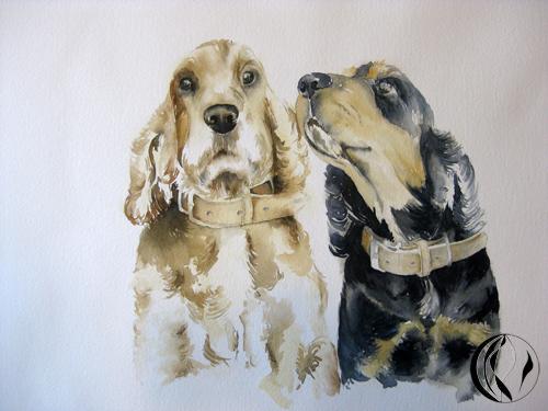 Das Jahr beginnt mit Hunden – Cocker – Aquarell