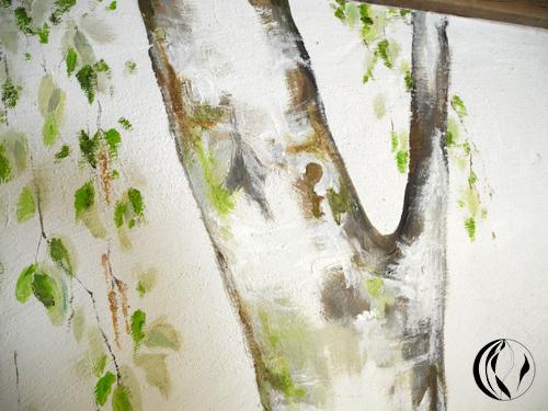 Ein Baum im Eßzimmer – Acrylmalerei