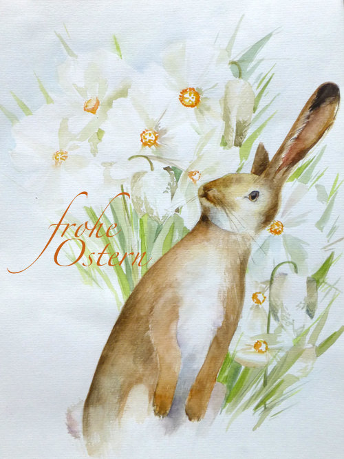 Frohe Ostern – Aquarell