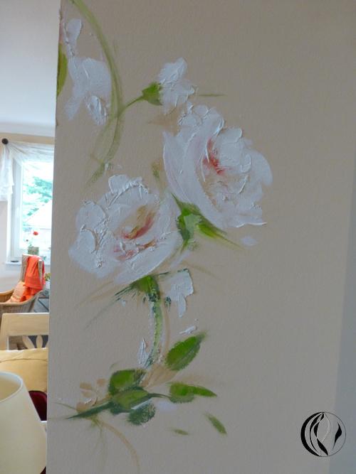 Wandmalerei von Küche und Bad – Luftemalerei