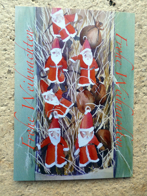 1. Advent – Aquarellmalerei – Postkarte