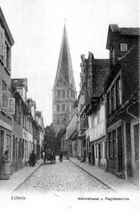 Weberstraße um 1900 ( Foto - wikipedia)