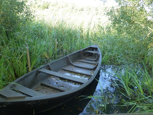 Emil Noldes Boot (Nachbau) auf der Schmale.