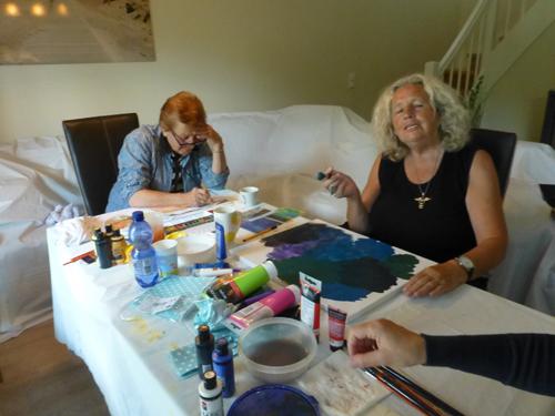 Schichtmalerei im Acryl / Lasurtechniken im Aquarell