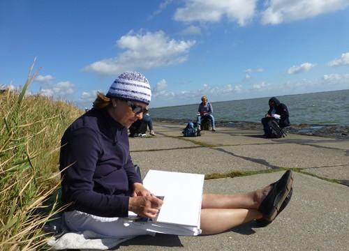 An der Küste – in Dagebüll / Malreise