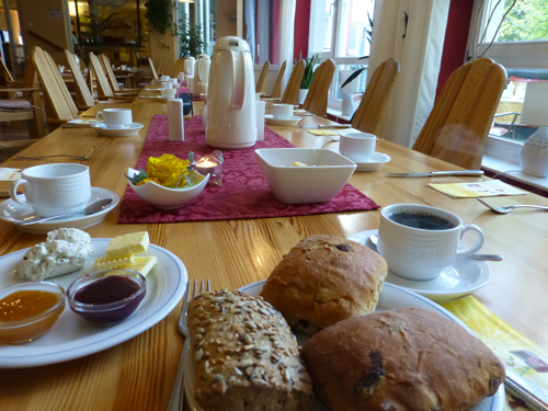 Vegan - vegetarisches Frühstück im Hotel.