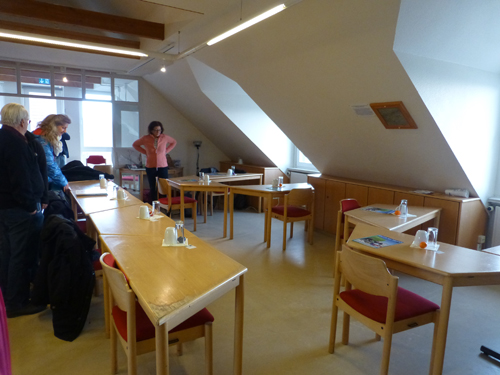 Das schöne, helle Atelier in Wyk.
