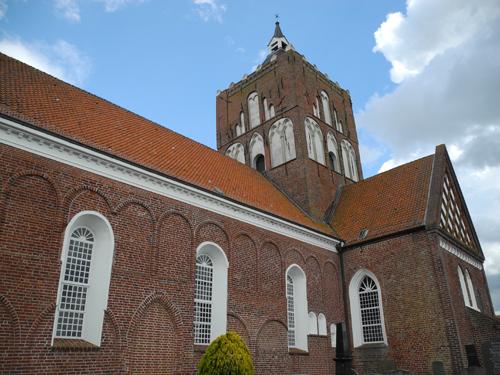 Die Kirche von Pilsum.