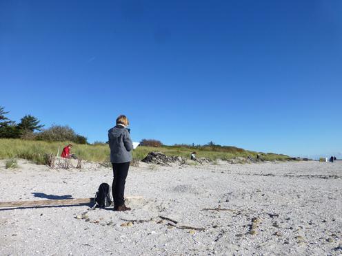 Goting haben wir gefunden - das Kliff jedoch war verschwunden.