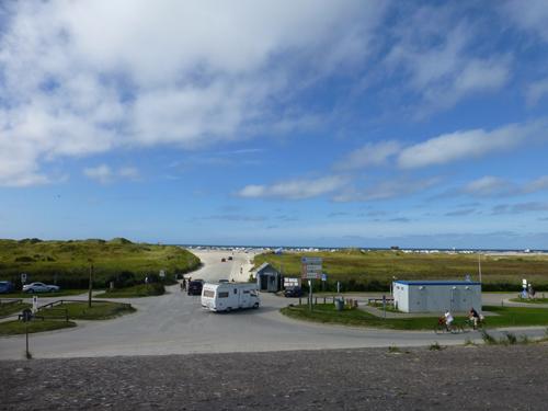 dann hatte man den fantastischen Blick auf den Strand von St. Peter Ording.