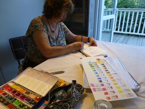 Jeder Teilnehmer hatte dort viel Platz, um seine Skizzen und Skribbeln zu vervollständigen und umzusetzen.
