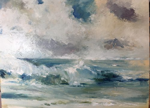 Im Sturm – Ölbild