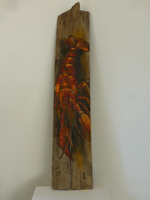 Oelbild Hummer Auf Holz Malen Am Meer