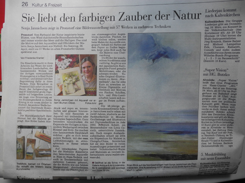 Ausstellung in Pronstorf - 2015 bei Klaus Niehusen