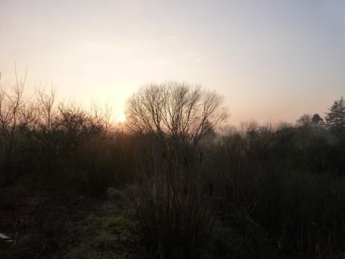 Die Sonne geht unter ...